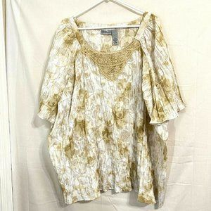 Catherines Liz & Me Top Shirt Blouse Size 5X